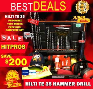 Hilti Te 35 Hammer Drill L k Preowned Very Strong Free Bits Fast Shipping