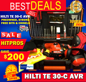 Hilti Te 30 c Avr L k Preowned Strong Free Drills Chisels Fast Ship