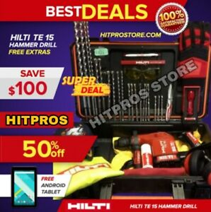 Hilti Te 15 Hammer Drill L k Germany Free Extras Strong Fast Shipping