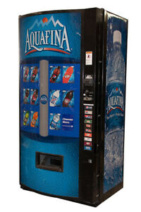 Vendo 601 Multi Price Soda Beverage Vending Machine W Aquafina Graphics