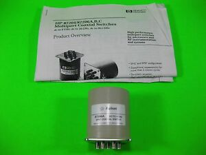 Agilent Sp6t Coaxial Switch Dc To 4 Ghz 87206a Used