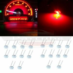 20x Upgrade Red Led For Gm Chevy Gauge Cluster Speedometer Climate Control Bulbs