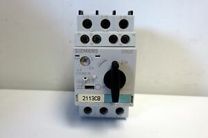 Siemens Motor Starter Protector 3rv1021 0aa15 0 11 0 16a Aux switch 1no 1nc