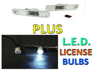 Clear Rear Bumper Side Marker Lights Led Bulbs By Depo For 92 96 Honda Prelude
