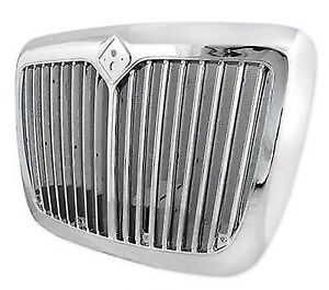 Chrome Front Grille With Bug Screen For International Prostar 2008 2016