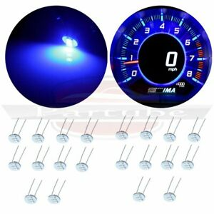 20x Instrument Cluster Ultra Blue 3 3014 Smd Led Bulbs For Gm Bulbs Replacement