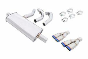 Megan Axle Back Exhaust Burnt Rolled Quad Tips For 14 Up Mercedes Benz Cla250