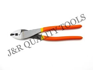 Crimping Wire Cutting Pliers 10 Inch Electricians Mechanics Tool W Soft Grip