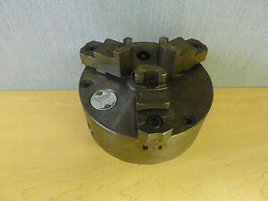 Cushman Union Chuck Division 36306a 3 jaw 6 Lathe Chuck With Adapter 13239
