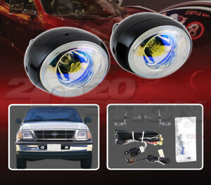 Custom Style Fog Light Lamps Kit Pair Blue For 97 98 Ford F 150 Truck