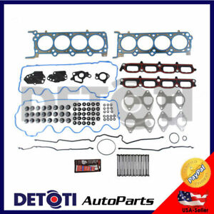 Head Gasket Set Kit Valve Cover Bolts For 07 12 Ford Lincoln 5 4l V8 Triton Mls