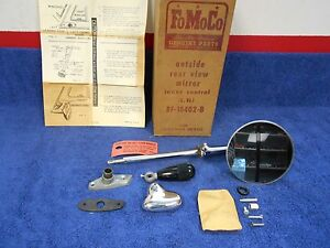 1952 54 Ford Lh Remote Mirror New In Box Nos Ford 816