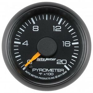 Autometer Gauge 2 1 16 Pyrometer 0 2 000 Degrees F Gm Factory Match 8345