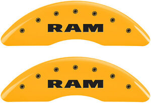 Brake Mgp Caliper Cover Front Rear Ram Yellow Paint Wheels Ram 3500 2011 2016