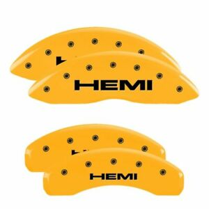 Brake Mgp Caliper Cover Front Rear Hemi Yellow Paint Rotor Ram 1500 2011 2014