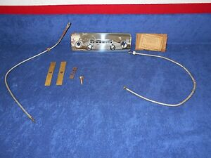 1948 51 Chevy Truck 1949 Mercury Radio Control Head With Cables New 716