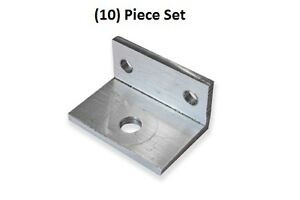 10x Small Aluminum Bracket 90 Degree Angle 1 Inch By 3 4 Inch With 3 Holes