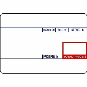 Cas Lst 8010 Printing Scale Label 58 X 40 Mm Upc12 Rolls Per Case
