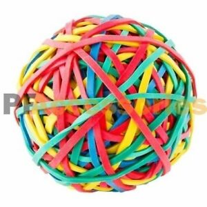 240 Ct Assorted Color Rubber Band Ball 5 3 Ounces For Office Home Desk New