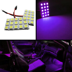 15 smd Universal Panel Festoon Leds License Plate Trunk Lights ultra Violet