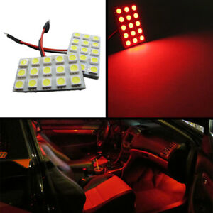 15 smd Universal Panel Festoon Leds License Plate Interior Trunk Lights red