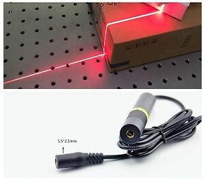Precision Focusable 650nm 150mw Red Laser Module Line Positioning Light Emitter