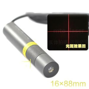 Precision Focusable 650nm 150mw Red Laser Module Cross Positioning Light Emitter