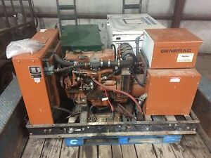 3 Ph Generac G15 3278 0 18 7 Kva Propane natural Gas Generator W transfer Switch