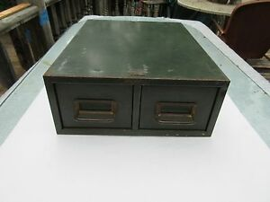 Vintage Steelmaster Art Steel 2 Drawer Card File Cabinet Stackable Vintage Asco