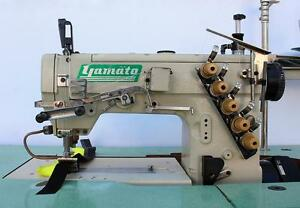 Yamato Vf2500 156m 3 needle 4 thread Coverstitch Industrial Sewing Machine 220v