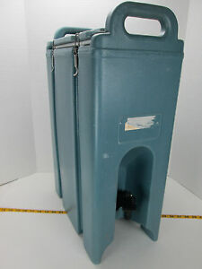 Cambro Insulated Drink Dispenser 500lcd 4 5 Gal Hot cold Handles Blue S