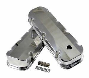 Big Block Chevy Bbc Polished Aluminum Fabricated Valve Covers Short bolt 396 454