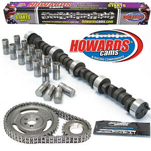 Howard s 1800 5800 Rpm Chevy Sbc 275 285 470 470 108 Cam Kit With Timing Set