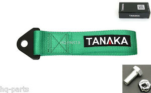Tanaka High Strength Universal Green Racing Sports Tow Strap Tow Hook