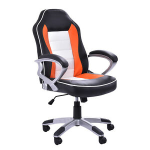 New Pu Leather High Back Executive Racing Style Office Chair Desk Task Computer