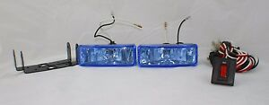 Chevrolet 4 Rectangle Fog Lights Universal Car Truck Suv Clear Kit Set Harness