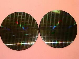2x 8 200mm Silicon Wafer For Art Proj Cool Pattern On Front Blank Back tq622