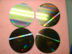 4x 8 200mm Silicon Wafer For Art Proj Cool Pattern On Front Blank Back tq623