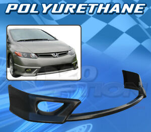 For Honda Civic 06 08 2dr T hfp Style Front Bumper Lip Body Kit Polyurethane Pu