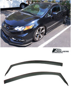 For 12 15 Honda Civic Coupe In Channel Rain Guard Shield Vent Side Window Visors