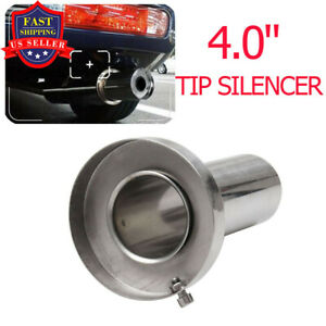 4 Round Tip Silencer Exhaust Muffler Removable Stainless Steel For Acura Honda