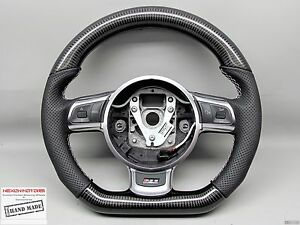 Audi Tt Ttrs R8 S3 Small Diameter No Ring Perforated Thick Carbon Steering Wheel