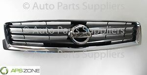Genuine Nissan Maxima Black And Chrome Front Grille With Emblem Oem 62070 9da0b