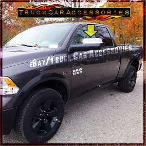 For Dodge Ram 1500 2009 2015 2016 Chrome Top Towing Mirrors Covers Signal Fit