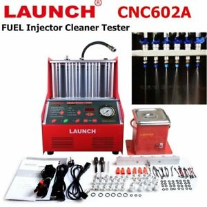 Launch Cnc602a Petrol Auto Fuel Injector Ultrasonic Cleaner Tester Machine 110v