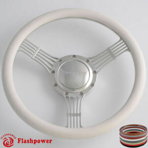 15 5 Billet Steering Wheels White Half Wrap Banjo Chevette Corvair Impala Gmc