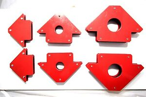 6 Pc Welding Magnet Arrow Type new 25lb 50lb 75lb