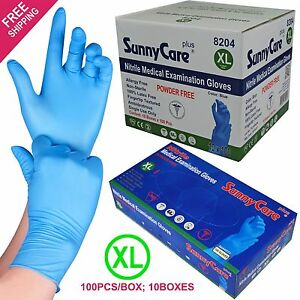 1000 Blue Nitrile Medical Exam Gloves Powder Free non Vinyl Latex Size x large