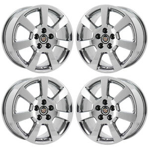 17 Cadillac Cts Pvd Chrome Wheels Rims Factory Original Oem 2007 Set 4 4586