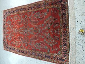 4 3 X6 7 Handmade Persian Antique Sarouk Rug